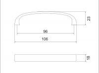 770073 - úchytka 96mm mat br.nikl