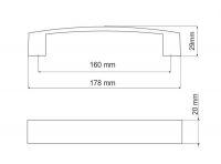770145 - úchytka 160mm satén chrom