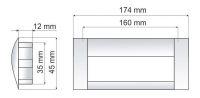 770286 - úchytka zápustná 160mm sat.chrom+Al