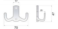 770290 - dvojháček satén nikl