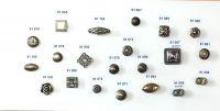 91065 - Knopka čtverec 30x30mm, staromosaz, rustik