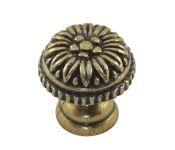 91074 - Knopka malá 23mm, staromosaz, rustikální