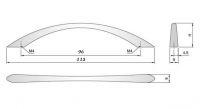 91118 - Úchyt 96mm / sat.chrom (U020)