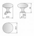 91303-Knopka kovová černá pr.30mm