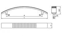 91376 - U005 úchyt 128mm chrom lesk