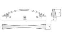 91421 - U025 úchyt 128mm sat.chrom