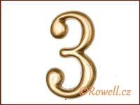 C2    Čísélko zlaté '3'