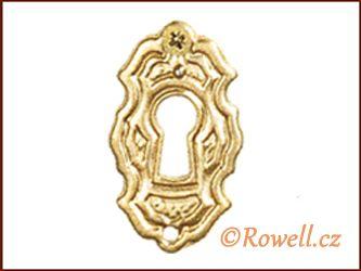 SK6 Štítek klíč zlatý