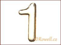 C37  Číslo 37mm zlatá '1'