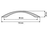 UO2. Úchyt 96mm satén chrom
