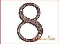 C1    Číslice 80mm k.bronz '8'