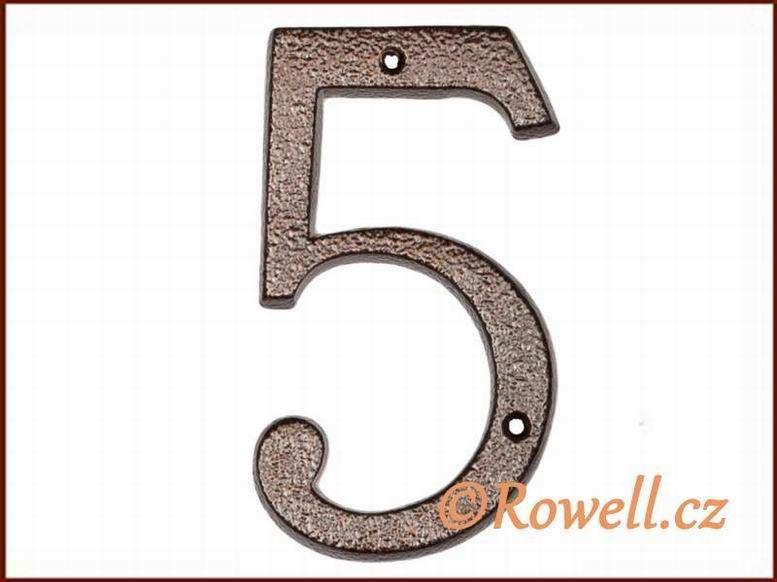 C4 Číslo 145mm kom.měď '5'