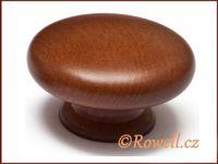 KD55 knopka dřevo-ořech tmavá