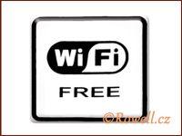 NO cedulka bílá  'Wi-fi' / DOPRODEJ