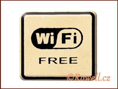 NO cedulka zlatá 'Wi-Fi' / DOPRODEJ