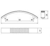 63521 - ANNA úchytka 64mm chrom lesklý 62