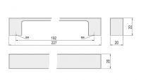 62277 - NIKOL úchytka 192mm broušený nikl