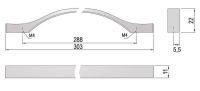 62295 - KARAT úchytka 288mm nikl broušený