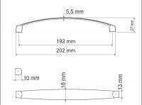 770093 - úchytka rozteč 192mm / Satén chrom