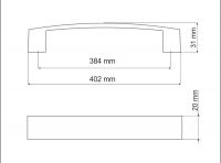 770133 - úchytka rozteč 384mm / Satén chrom