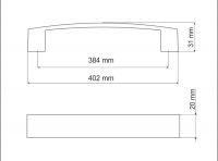 770134 - úchytka rozteč 384mm / Broušený nikl