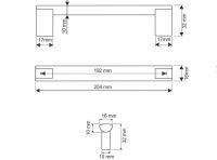 770164 - úchytka rozteč 192mm / hliník AL