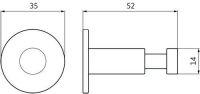 12014 - Kovový věšák nerez pr. 35mm