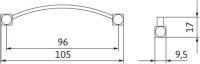 12152 - Úchytka kovová 96mm / antracit