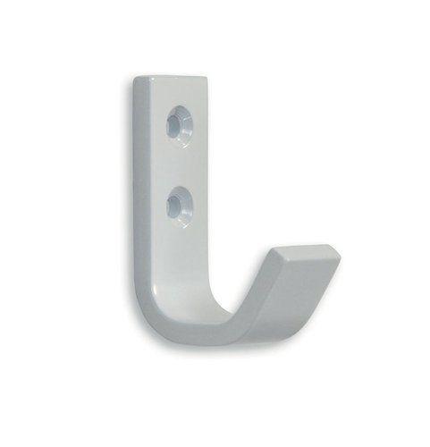12220 - moderní háček kovový / bílý /knk