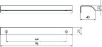 12237 - Profilová úchytka 64mm / nerez