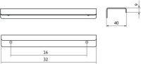 12239 - Profilová úchytka 16mm / nerez