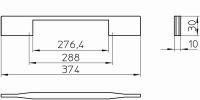 12317 - Kovová úchytka - Délka: 374 mm