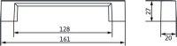 12338 - Úchytka 128mm / železo broušené