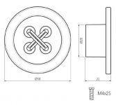 12791 - Knopka plastová KNOFLÍK 58mm / bílá