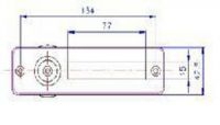 40450 - Průhledítko se jmenovkou chrom 150x42 62