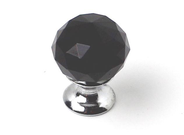 81045 - knopka 25mm crystal Black